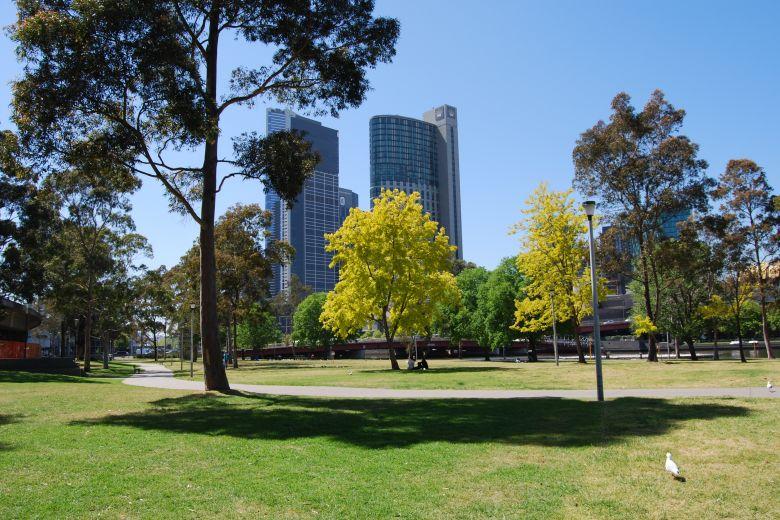 Batman Park alongside the Yarra River