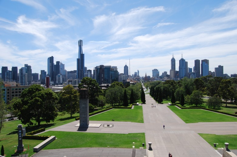 Melbourne CBD as seen from the War Memorial