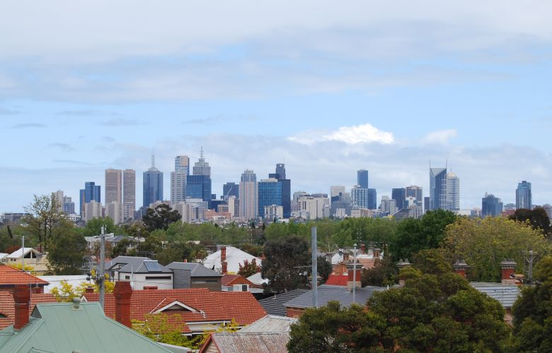 View from High Street, Northcote - Melbourne Australia CBD.