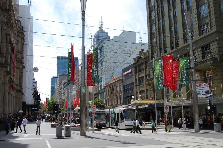Trams - Melbourne Australia City Centre