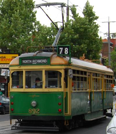 HIstoric #78 Tram, North Richmond - Prahran Line