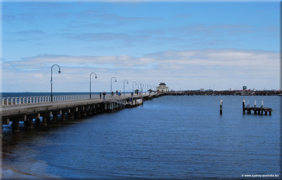 The Pier at St Kilda's beach